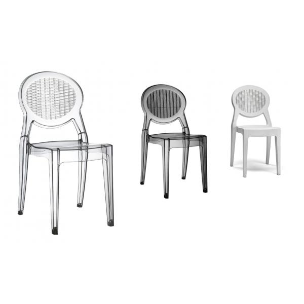 Sedie di design in policarbonato modello barbarella sedie for Modelli sedie cucina
