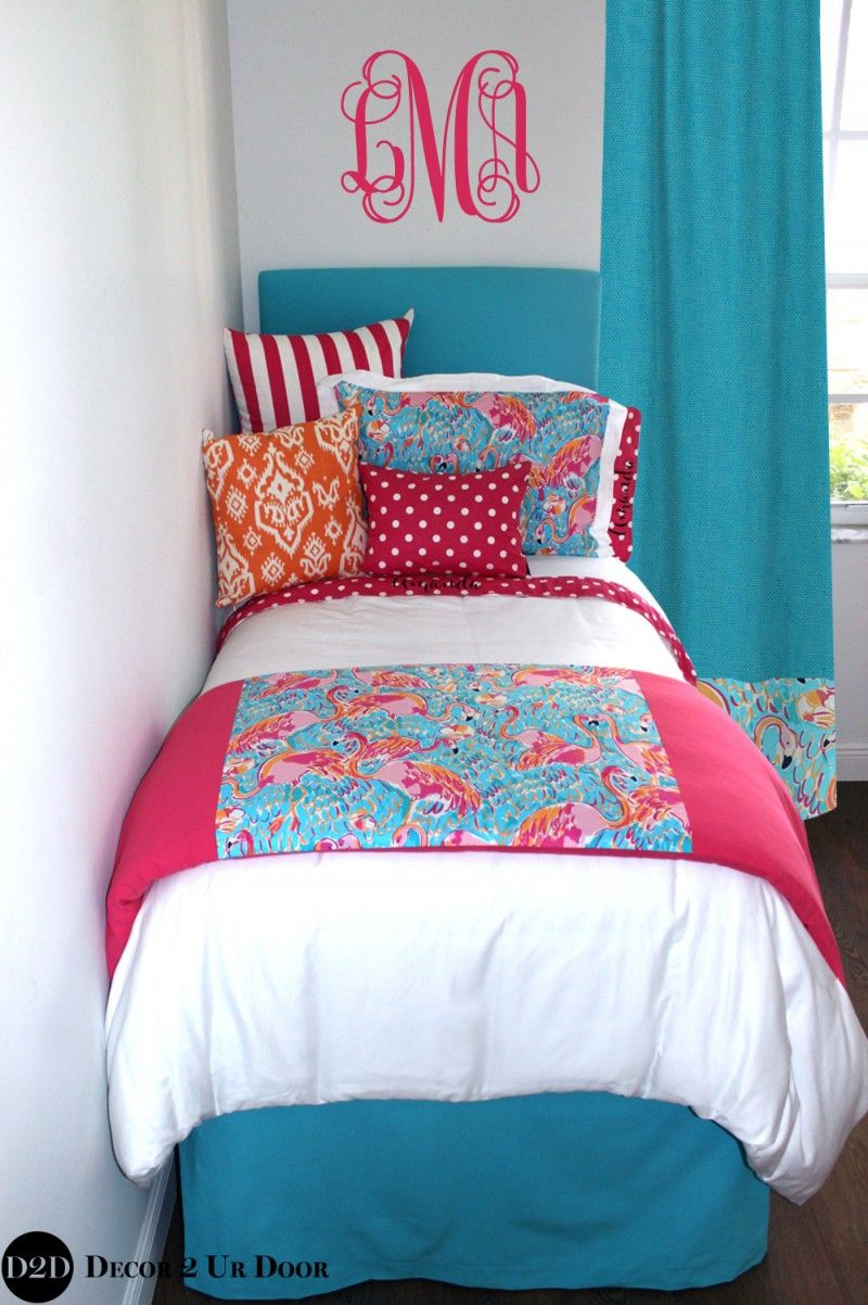 Lilly Flamingo Print Dorm Bedding Set In 2019 Lilly