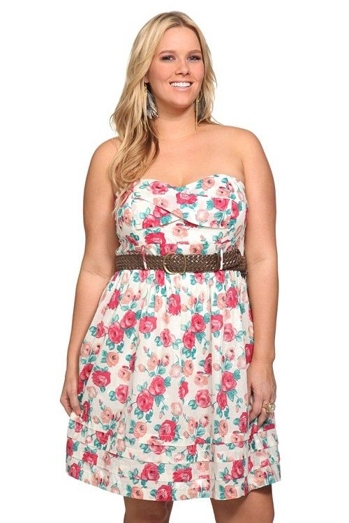 acc78f3a1d5 This flower dress with some cowboy boots for the summer festivals and  farmer s markets.  68.50 Plus Size