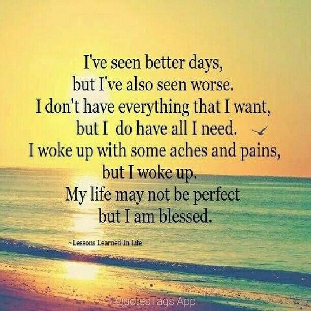 Blessed life, Optimism