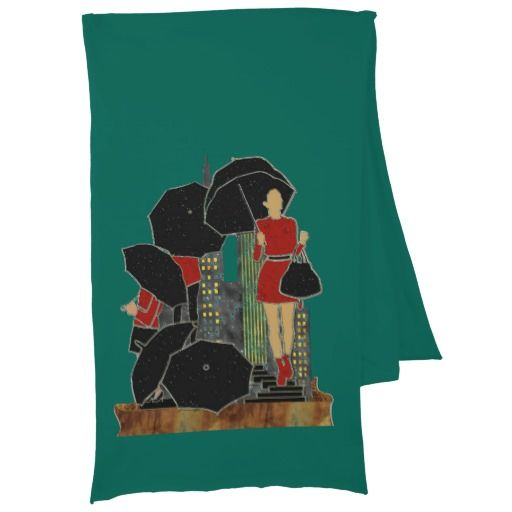Rainy Day Woman in Red & Black Evergreen Scarf http://www.zazzle.com/rainy_day_woman_in_red_black_evergreen_scarf-256702748970140491?rf=238588924226571373