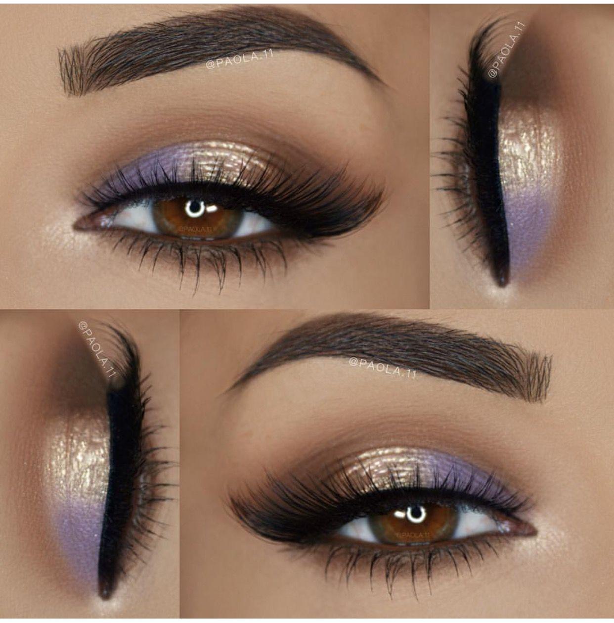Lavender Cream White And Brown Eye Makeup Eyeshadow Gorgeous