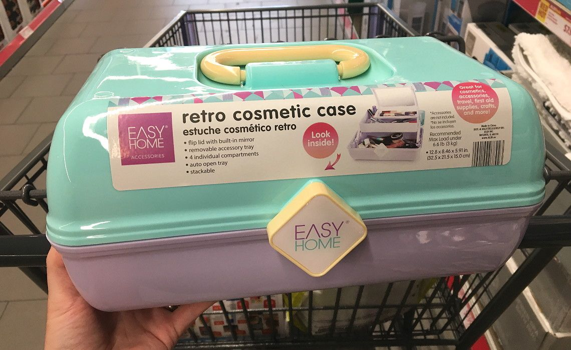 Easy Home Retro Cosmetic Cases Only 7 99 At Aldi Cosmetic Case Makeup Storage Box Case