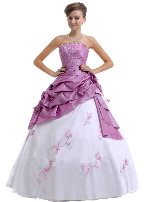 b82935f7b17 purple and white plus size quinceanera dresses