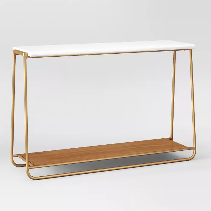 Sayer Console Table White Project 62 In 2020 Console Table Tv Console Table Metal Console Table