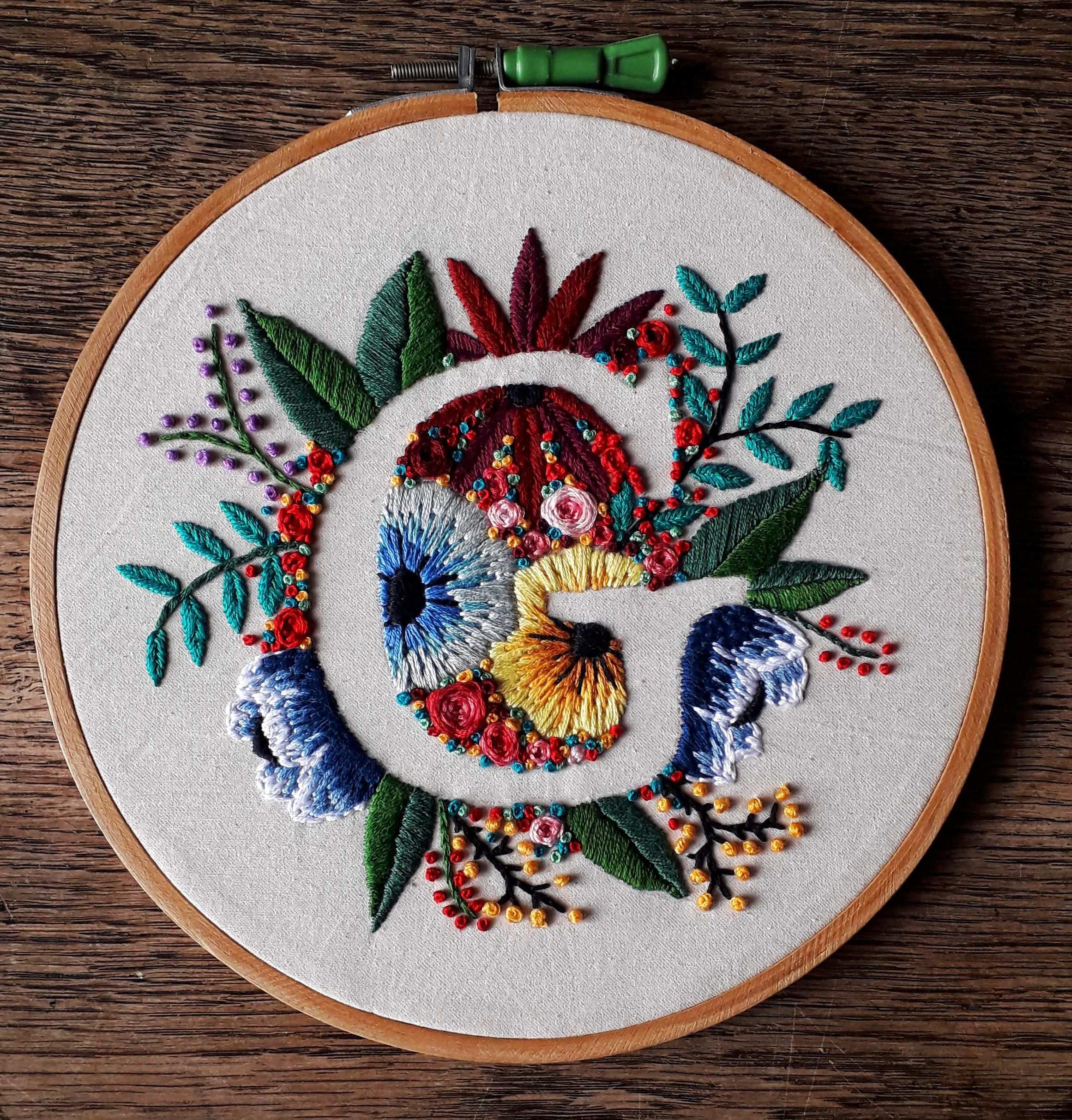 Hand embroidered, as a baby's gift :)