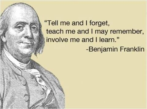 Learning Process Quote 2 Benjamin Franklin Quotes Ben Franklin