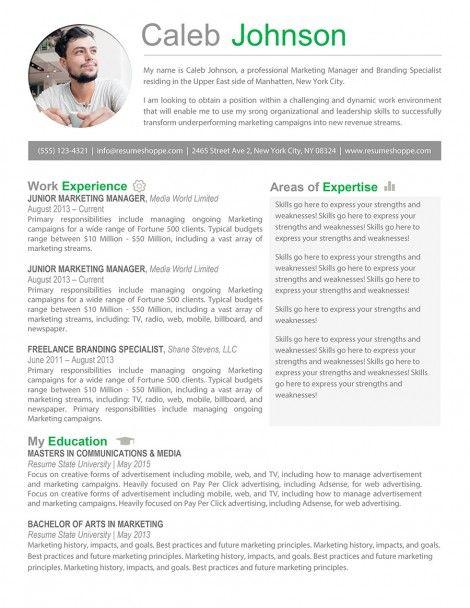 Shop For Creative Resume Templates From Resume Shoppe Marketing Resume Job Resume Examples Marketing Professional