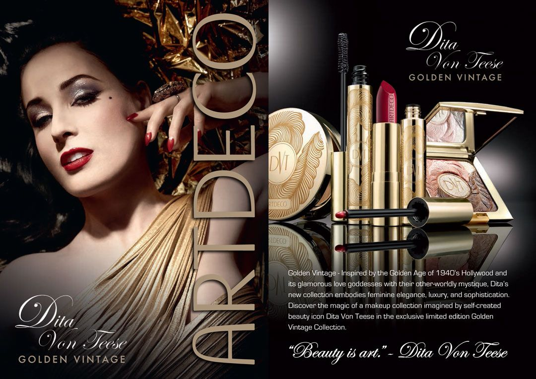 25f60eee2365 Dita Von Teese  Golden Vintage  ART DECO  (special edition make up ...