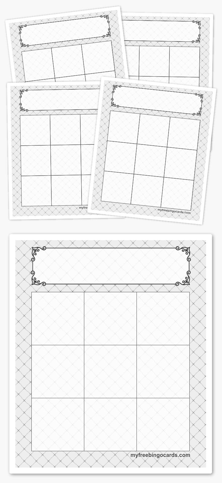 3x3 card template