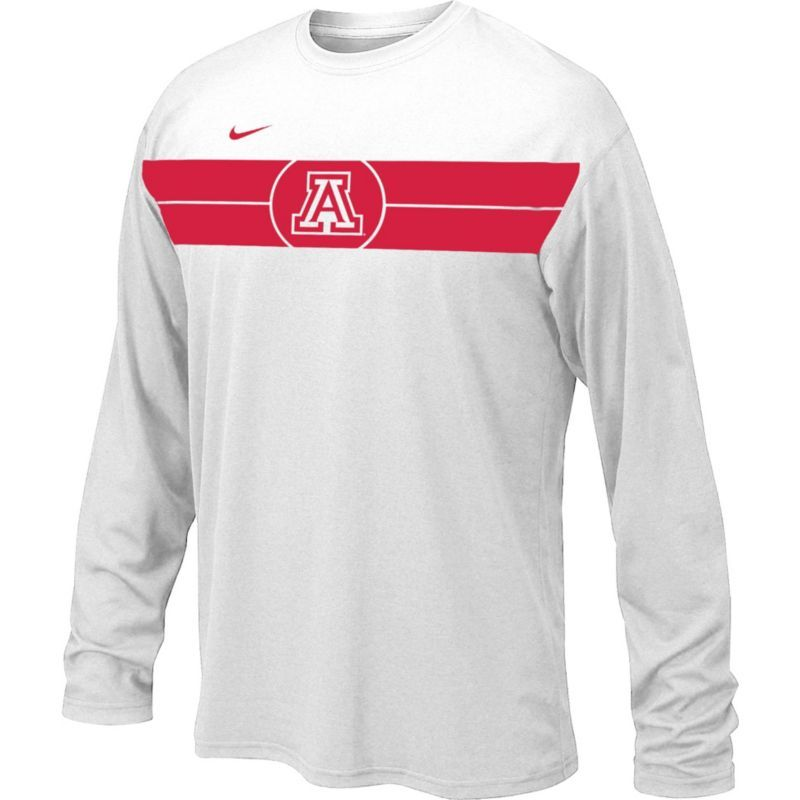 feff91b0 Nike Youth Arizona Wildcats Basketball Legend White Long Sleeve T-Shirt,  Size: Medium, Team