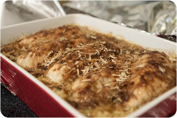 """Easy and delicious """"No Peek"""" Chicken Casserole. One Dish, pop it in the oven and leave it alone.  Crunchy, savory, delicious! #chicken #backtoschool #onedishdinners"""