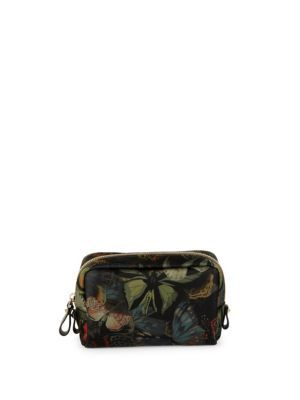 VALENTINO Butterfly Printed Zipped Pouch. #valentino #pouch