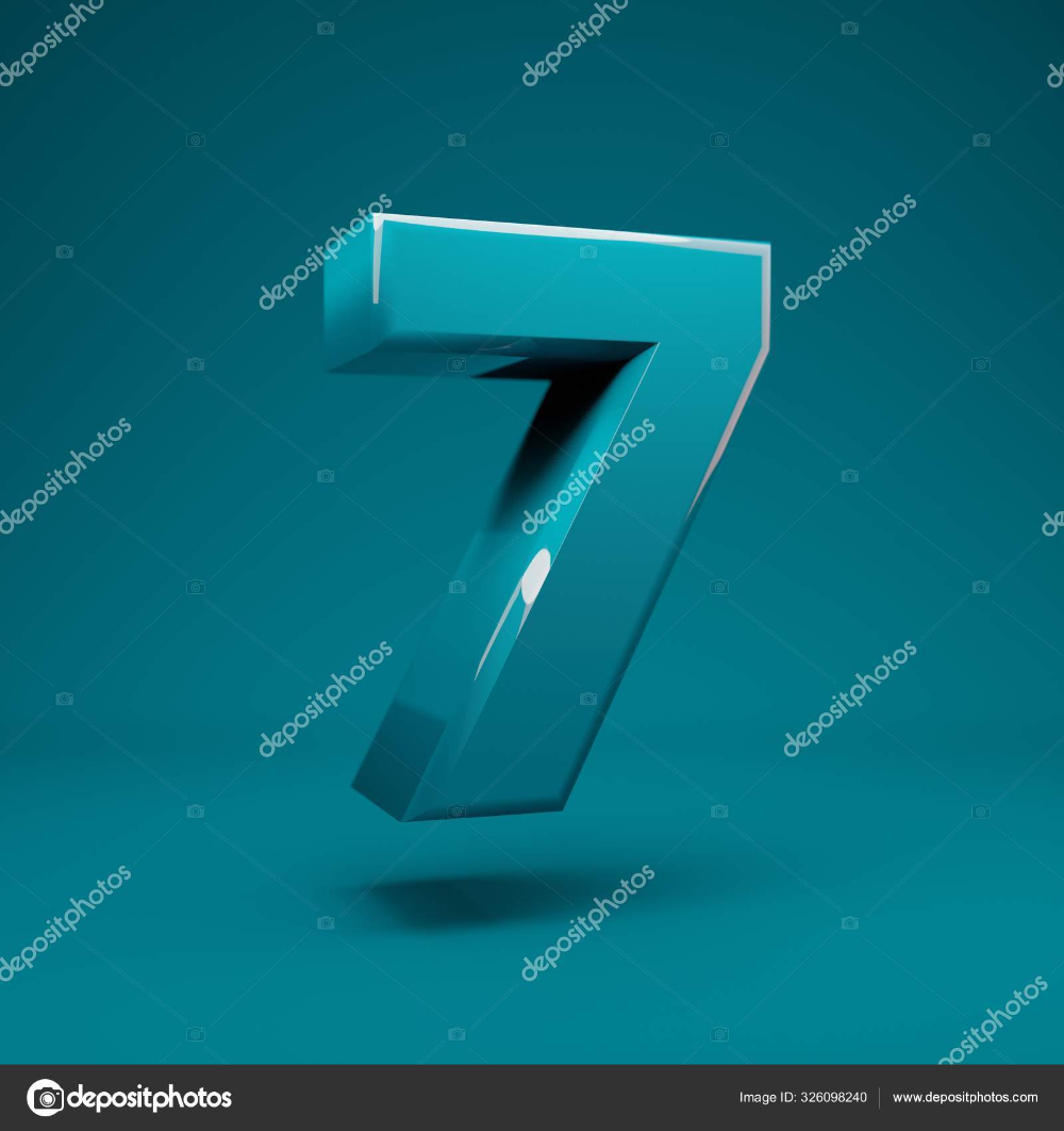 Download Aqua Menthe 3d Number 7 3d Rendering Best For Anniversary Birthday Party Celebration Advertising Stock Image