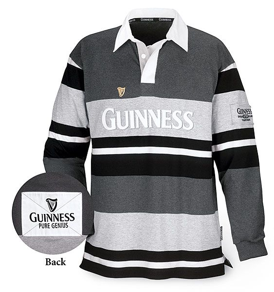 321 Official Guinness Embroidered Product Guinness Rugby Grey Rubber Buttons