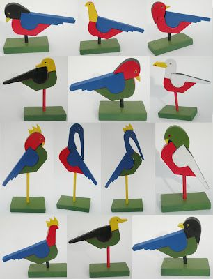 "Thanks Deborah Beau!!! http://kickcanandconkers.bigcartel.com/  David Plagerson - ""Build a Bird Blocks"" - A new toy that will be shown at MADE London (at least in advance prototype form). Inspired by Avant Garde toys from the inter-war period including Alma Siedhof-Buscher."
