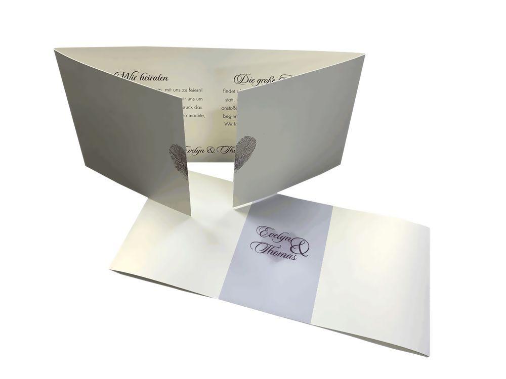 Fingerprint Hochzeitskarten Setzen Sie Einen Fingerabdruck Auf Ihre