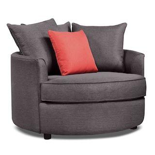Designed2B Linen Look Fabric Accent Nesting Chair U2013 Sophisticate Aluminum