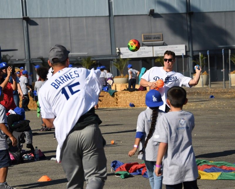 ceb5c6f7403 Yesterday the Dodgers held their annual Children s Holiday Party at Dodger  Stadium