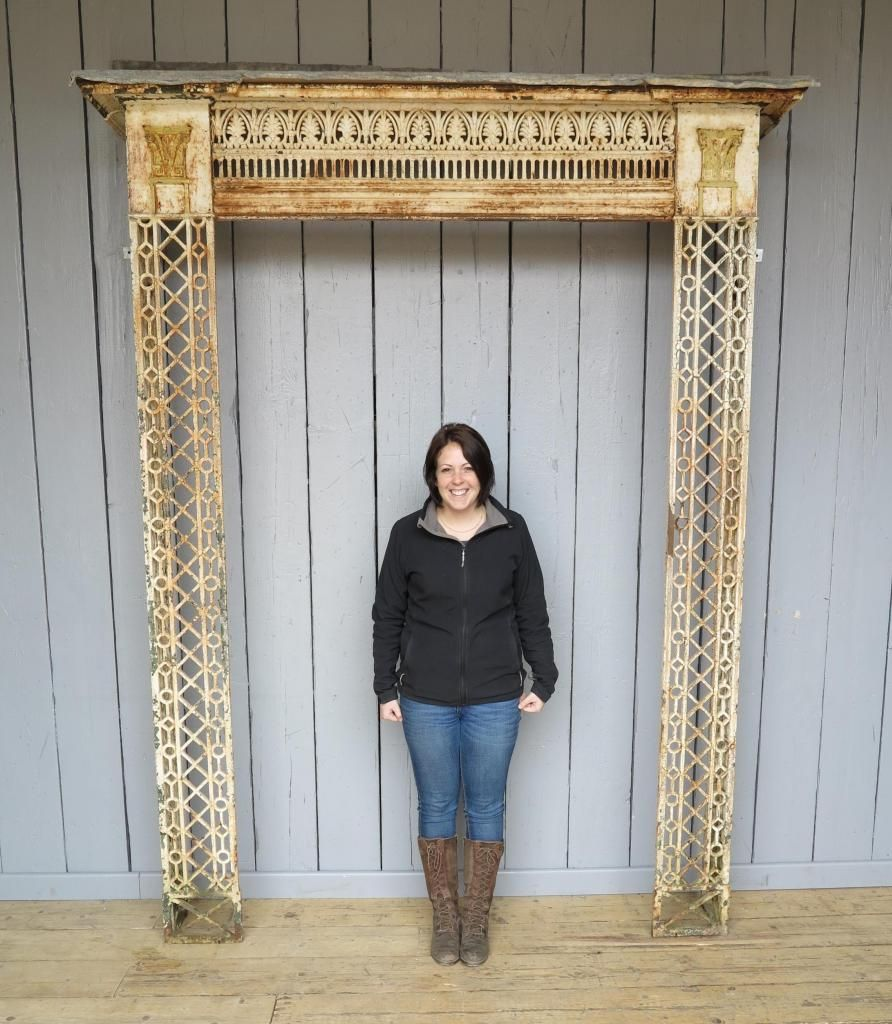 Original Regency Cast Iron and Lead Canopy   Architectural ...