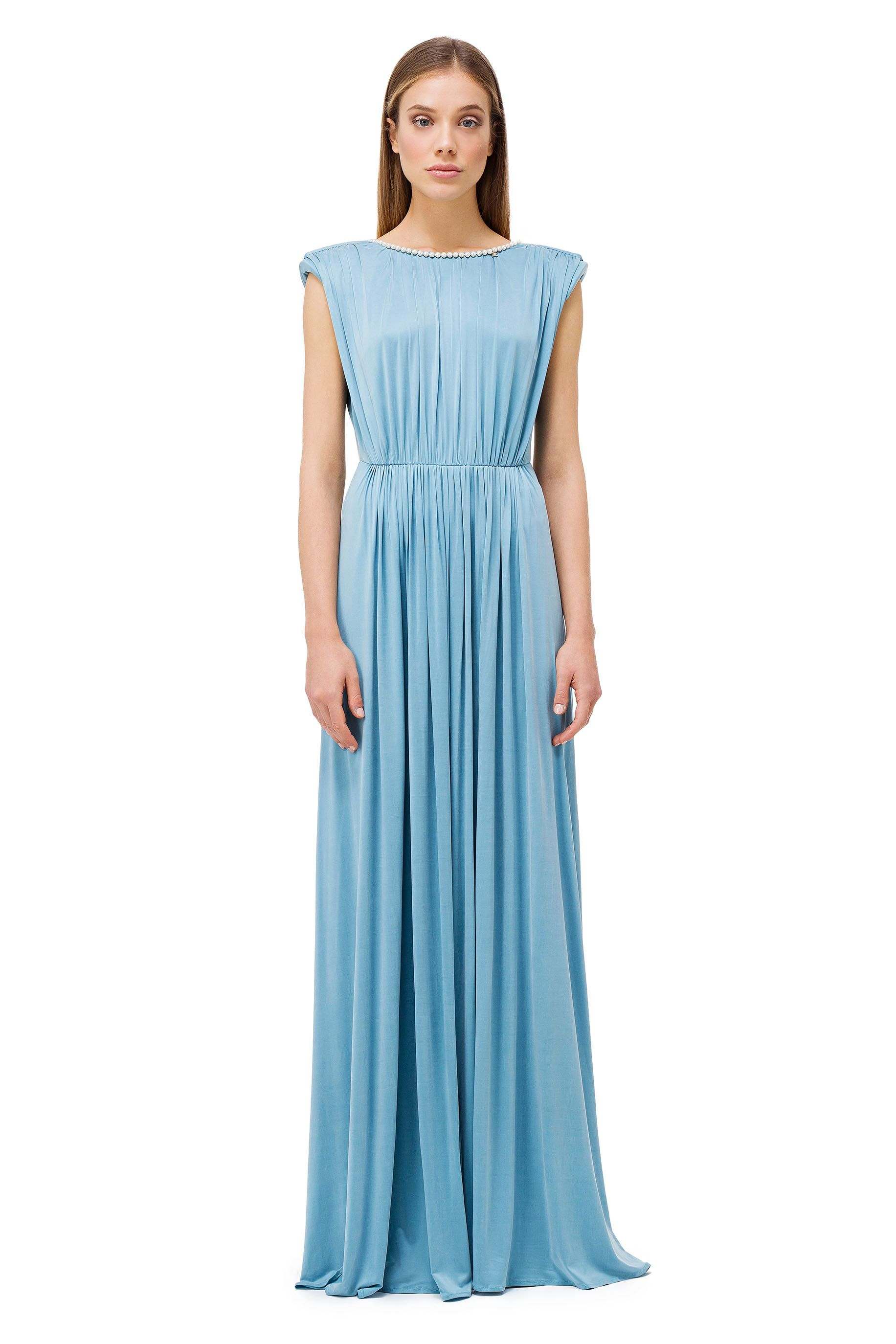 a81b88cee107 Long dress with pearls - Elisabetta Franchi