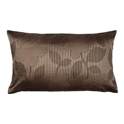 "MaduraUS Ginza Pillow Cover Size: 17.72"" H x 27.56"" W x 0.39"" D, Color: Dark Brown"