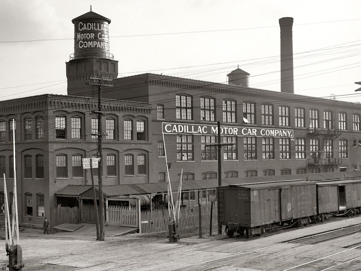 The original 1902 factory for the cadillac motor car for Cadillac motor car company