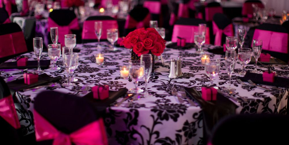 Know Why You Need Party Equipment Rental Software For Your Business Few Benefits Of Party Equipm Pink Wedding Receptions Hot Pink Weddings Wedding Table Linens