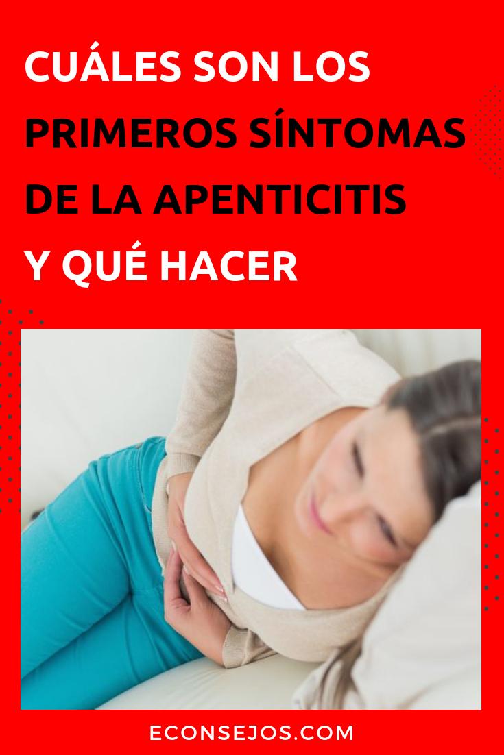 Sintomas apendicitis en mujeres