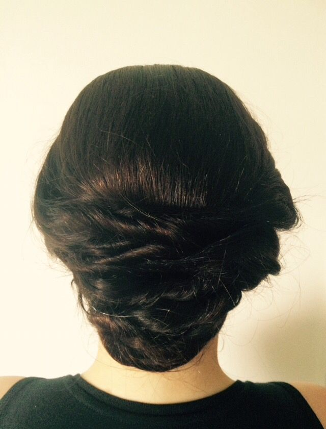 Hair up for bridal or occasion