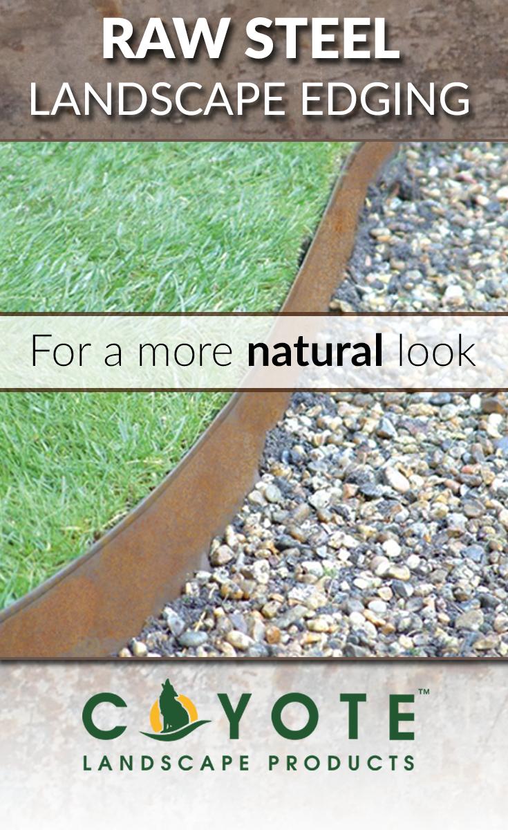 Steel Landscape Edging Homekits Coyote Landscape Products Landscape Edging Steel Edging Landscape Metal Landscape Edging