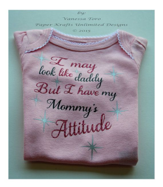 Personalized/Customized My First Onesie I by PaperKraftsUnlimited