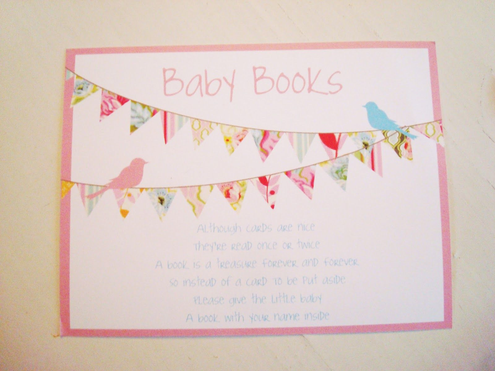 poems for book themed baby shower invitations