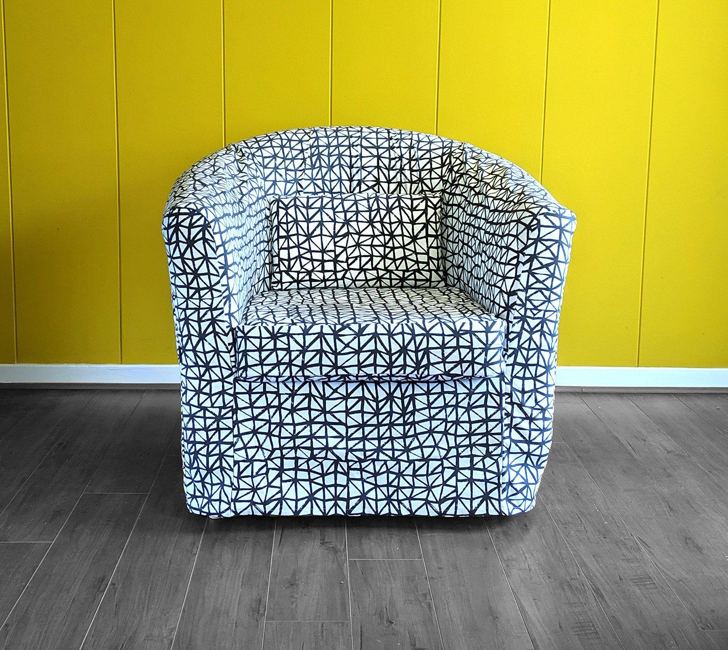 Cool Ikea Chair Slip Cover Black Lattice Print For Tullsta Gmtry Best Dining Table And Chair Ideas Images Gmtryco