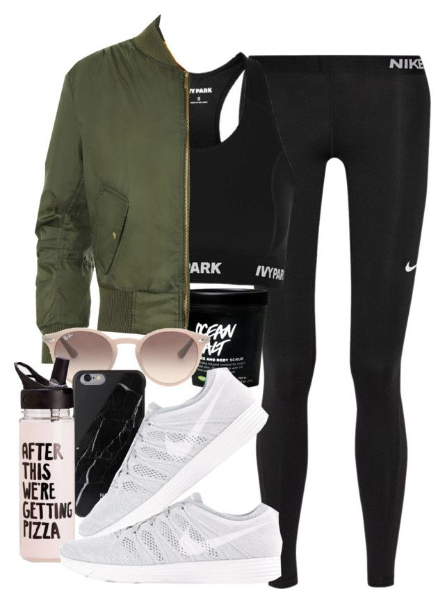 """""""Untitled #933"""" by lyss-nxo ❤ liked on Polyvore featuring NIKE, Topshop, WearAll, Ray-Ban and Native Union"""
