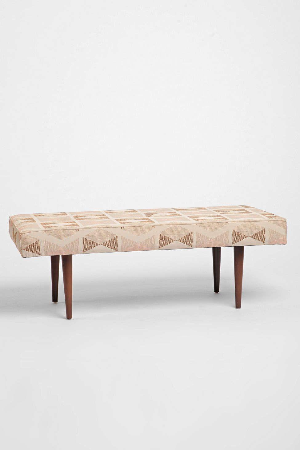 Stupendous Henderson Printed Upholstered Bench Scandinavian Style Ibusinesslaw Wood Chair Design Ideas Ibusinesslaworg