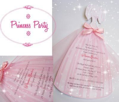 Super Cute Princess Party Invitations Other Princess Party