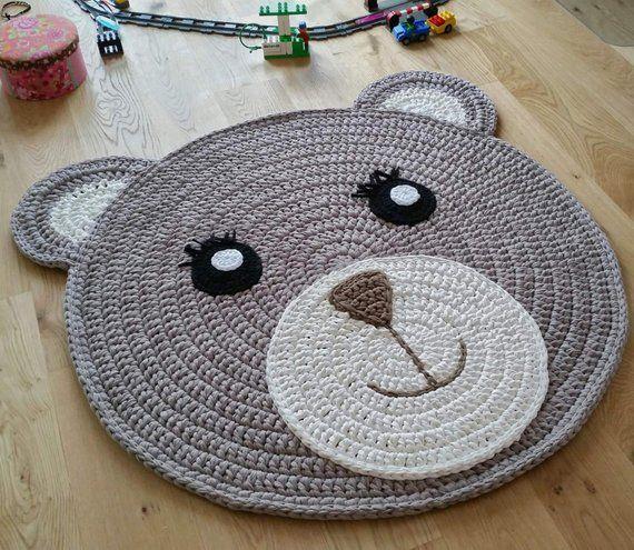 Kinderzimmerteppich Bärchi / Bärenteppich / Bär / Teddy