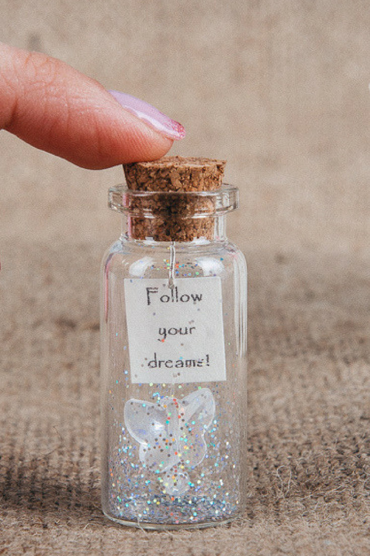 Special gift for her greeting cards follow your dreams message in special gift for her greeting cards follow your dreams message in a bottle personalized gift tiny negle Images
