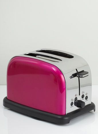 Hot Pink Essentials 2 Slice Toaster Pretty And Girly