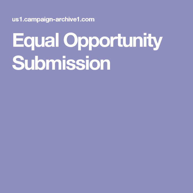 Equal Opportunity Submission