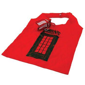 Foldable Shopping Bag - Red Telephone Box