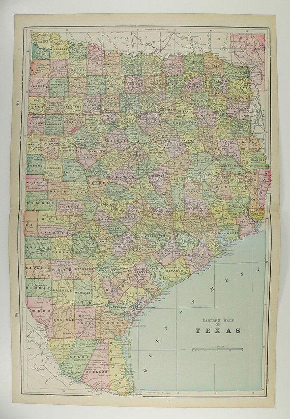 East Texas Map Nevada Arizona Map 1898 Southwest US State Map ...