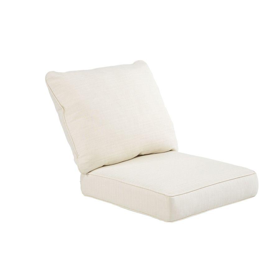Shop Sunbrella 25 In L X 20 In W Pearl Chair Cushion At Lowes Com