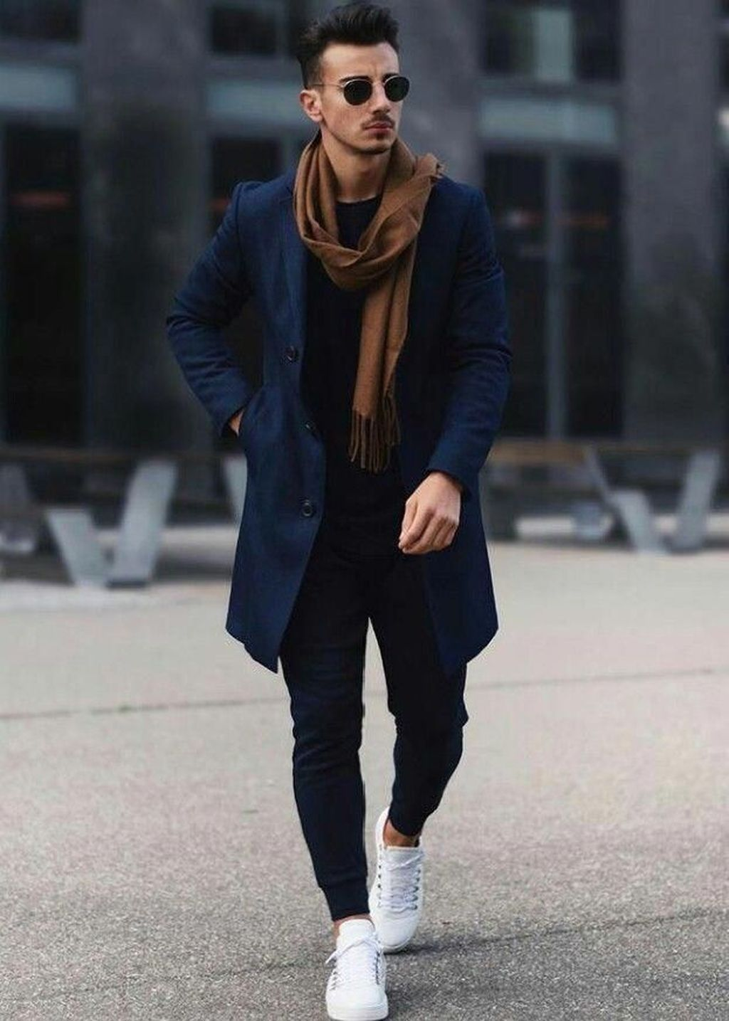 50 Elegant Winter Man Outfit With Scarf Ideas To Warm Your Body is part of Mens winter fashion - The scarf is an ideal way to keep both yourself warm as well as stay fashionable during the cold winter […]