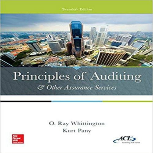 Principles of auditing and other assurance services homework solutions