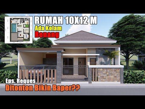 desain rumah 10x12 m dengan kolam renang - youtube di 2020
