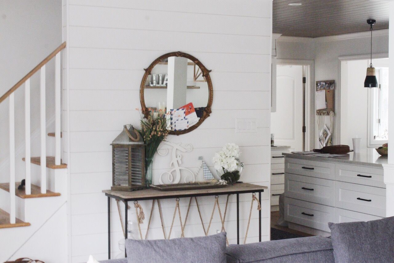 Bright White Beach House Shiplap DIY Home tour of SALTED Design Studio - Long Island, NY Architect