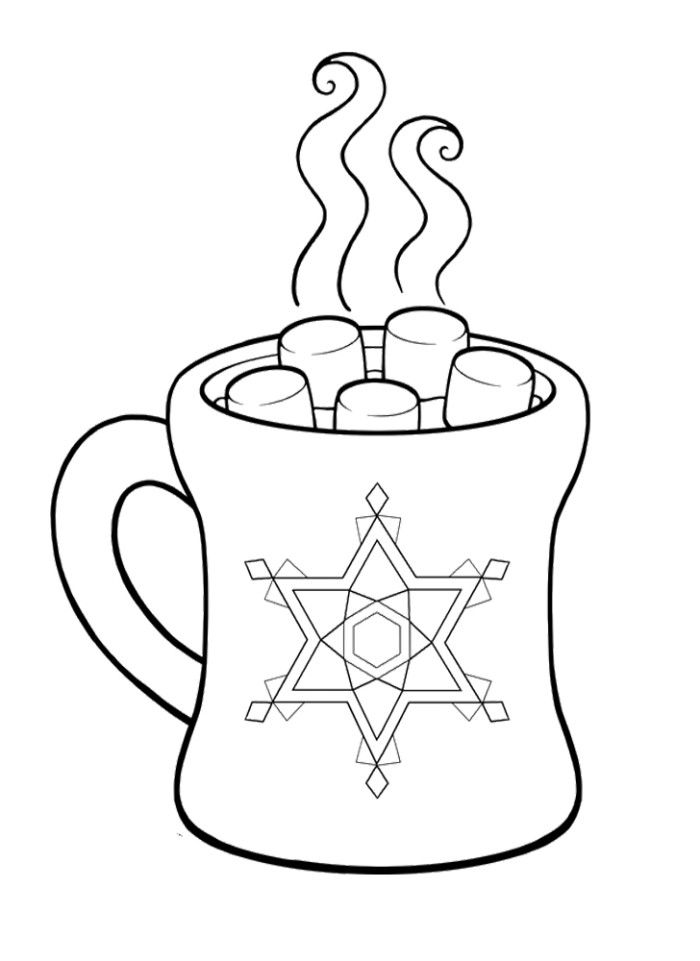 Pictures Hot Chocolate Cocoa Coloring Pages