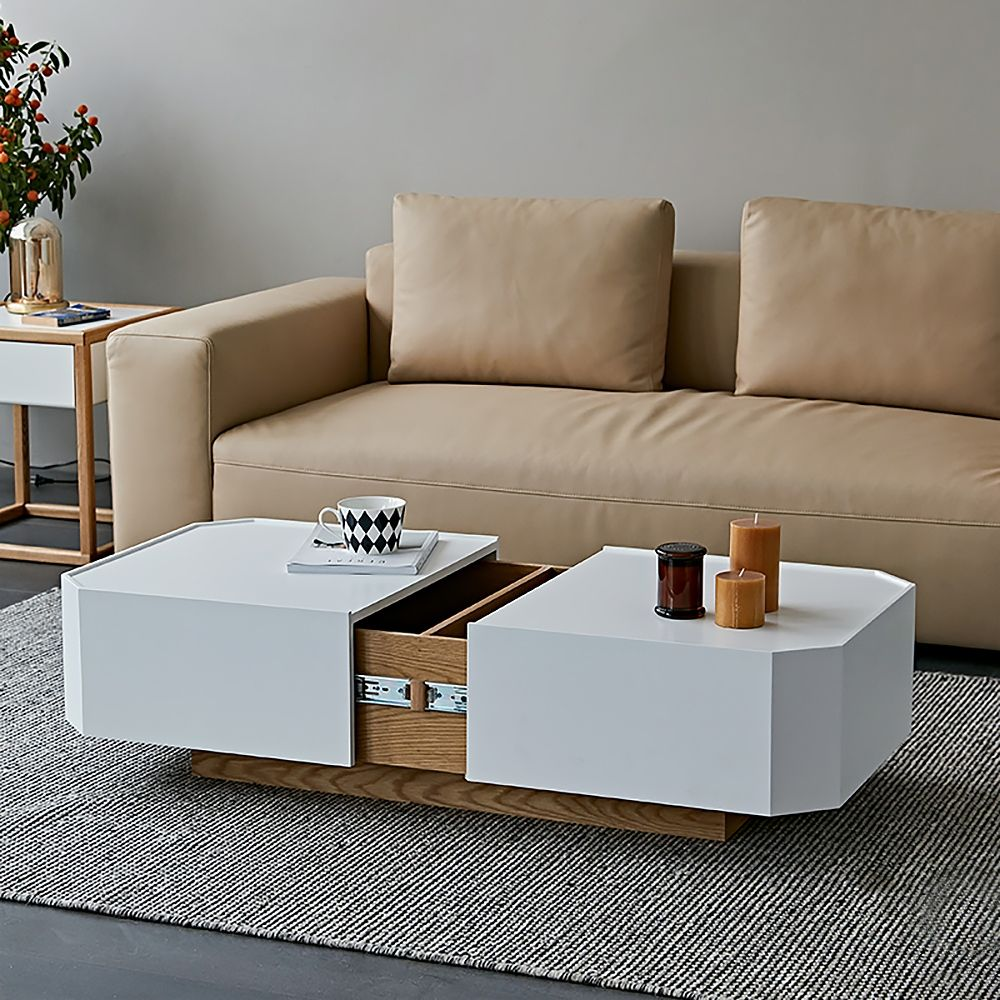 White Natural Extendable Coffee Table With Hidden Storage Sliding Top Coffee Table Manufactured Wood In 2021 Coffee Table With Hidden Storage Extendable Coffee Table White Coffee Table Modern [ 1000 x 1000 Pixel ]